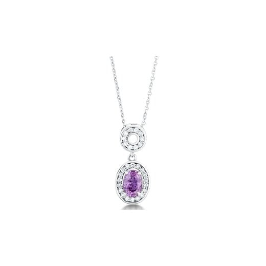 Clearwater Diamonds Purple Sapphire & Diamond Pendant With Chain