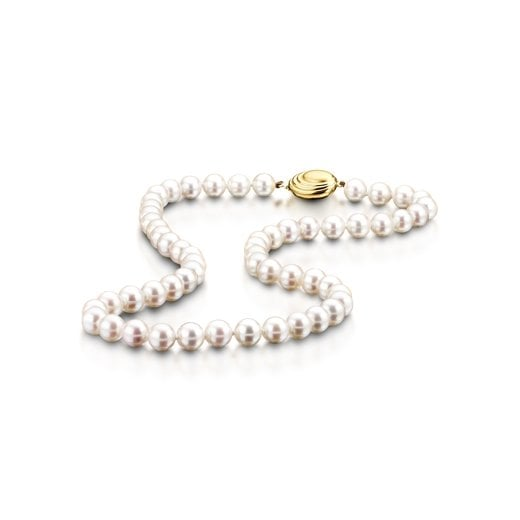 Clearwater Diamonds Row Of White Cultured Pearls
