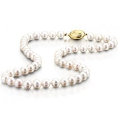 Row Of White Cultured Pearls