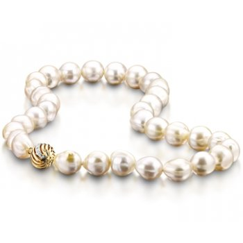 Clearwater Diamonds South Sea Baroque Pearl Row Necklace