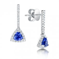 Tanzanite & Diamond Set Earrings