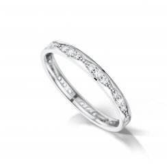 Waves Diamond Set Wedding Ring