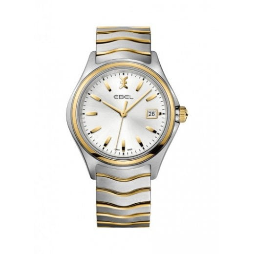 Ebel Gent's Stainless Steel and Gold Wave Watch