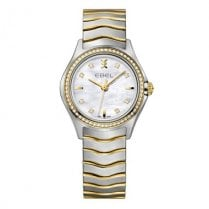 Ladies Diamond Set Stainless Steel and Gold Wave Watch