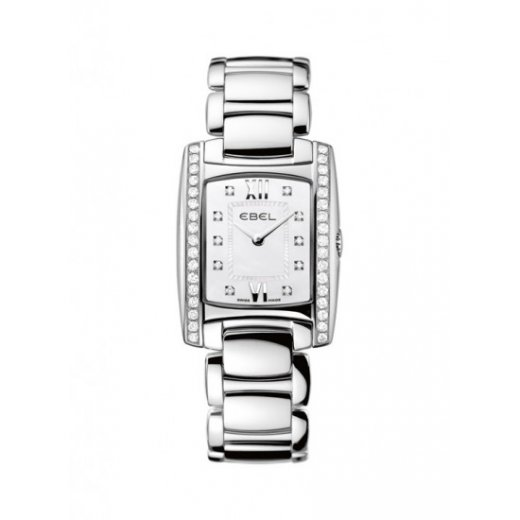 Ebel Ladies Diamond Set Stainless Steel Brasilia Watch