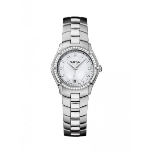 Ebel Ladies Diamond Set Stainless Steel Classic Sport Watch