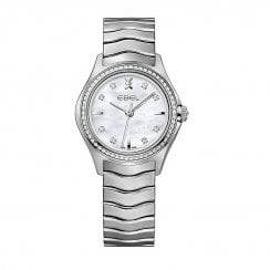 Ladies Diamond Set Stainless Steel Wave Watch
