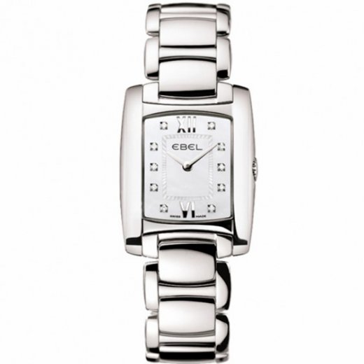 Ebel Ladies Dot Diamond Set Stainless Steel Brasilia Watch