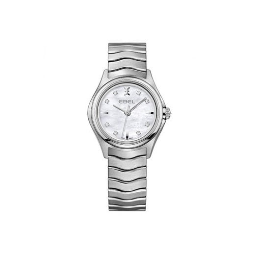 Ebel Ladies Dot Diamond Set Stainless Steel Wave Watch