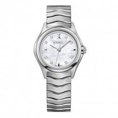 Ladies Dot Diamond Set Stainless Steel Wave Watch