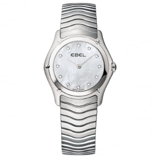 Ebel Ladies Mother of Pearl Diamond Dot Classic Wave