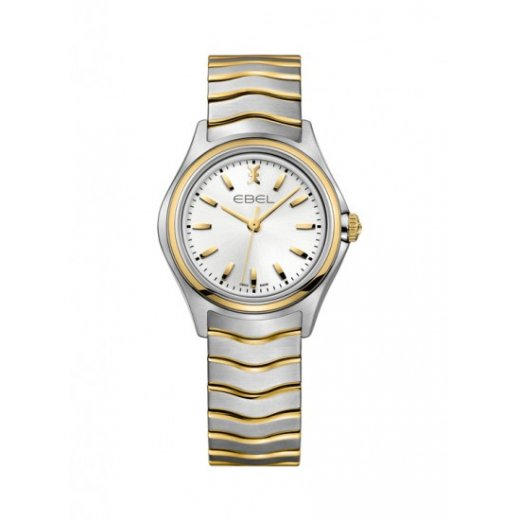 Ebel Ladies Stainless Steel And Gold Wave Watch