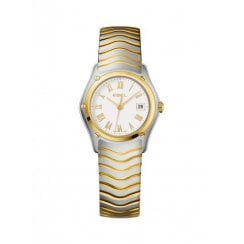 Ladies Stainless Steel and Gold Wave Watch