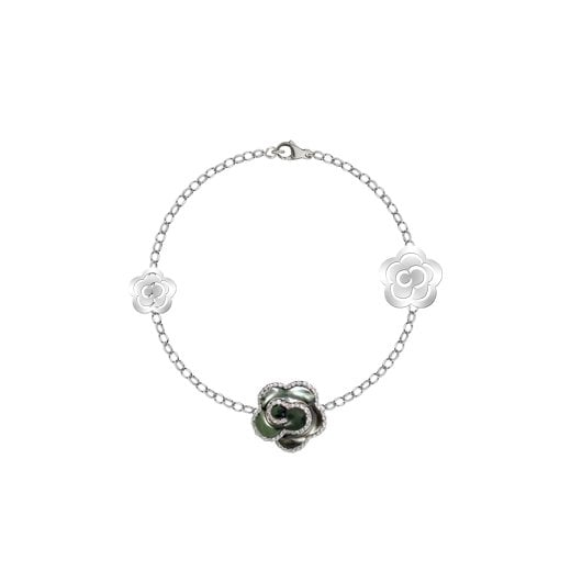 Fei Liu Fine Jewellery Black Mother of Pearl Jasmine Bracelet