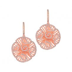 Cascade Drop Earrings in Rose Gold Colour