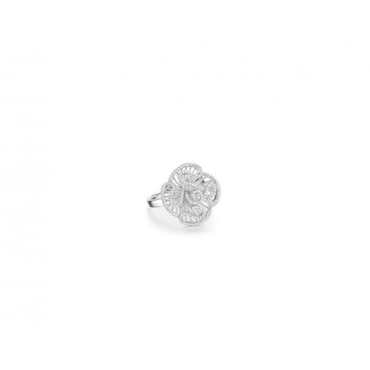 Fei Liu Fine Jewellery Cascade Stud Ring in Rhodium Vermeil