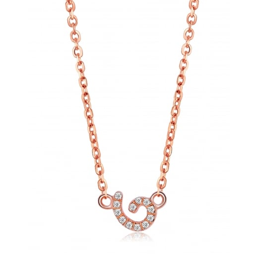 Fei Liu Fine Jewellery Cascade Tiny Pendant in Rose Gold Vermeil