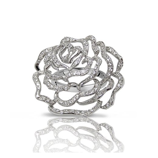 Fei Liu Fine Jewellery Large Rose Ring in Silver