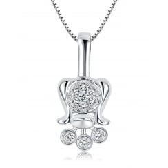 Lily of the Valley Single Pendant 9ct White Gold