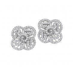 Mini Cascade Silver Stud Earrings
