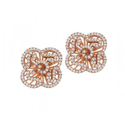 Fei Liu Fine Jewellery Mini Cascade Stud Earrings in Rose