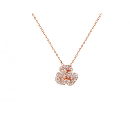 Fei Liu Fine Jewellery Peony pendant in Rose gold Finish.