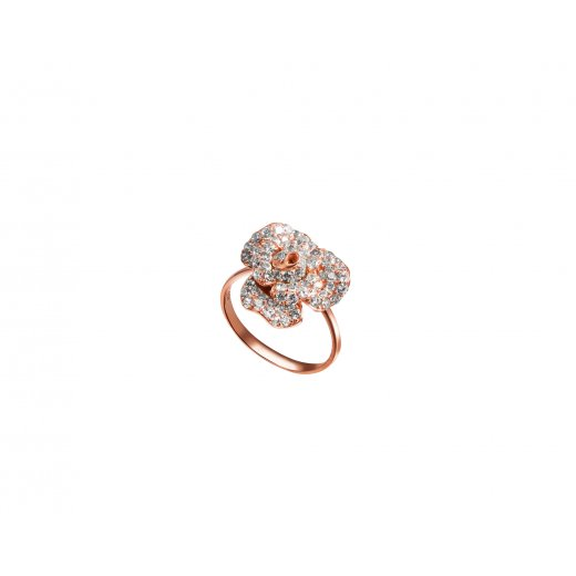 Fei Liu Fine Jewellery Peony Ring in Rose Gold Finish
