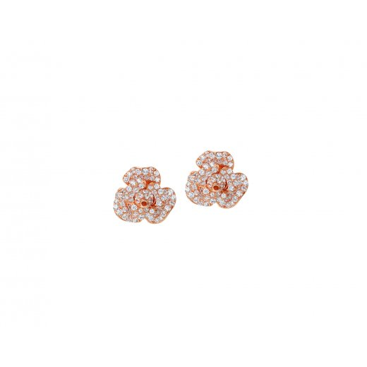 Fei Liu Fine Jewellery Peony Studs with Rose Gold Finish