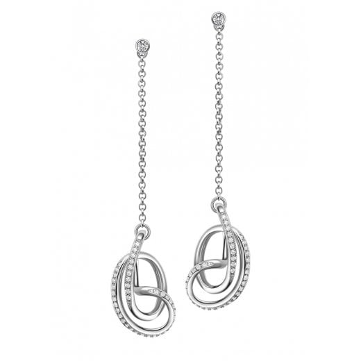 Fei Liu Fine Jewellery Serenity Drop Earrings with Cubic Zirconia