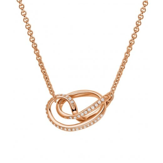 Fei Liu Fine Jewellery Serenity Pendant Rose Gold with Stones