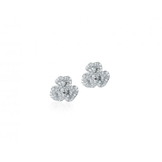 Fei Liu Fine Jewellery Silver & Cubic Zirconia Peony Earrings