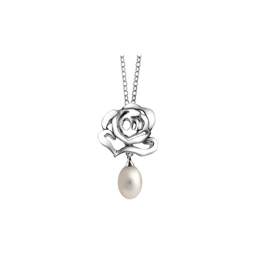 Fei Liu Fine Jewellery Silver Stud Pendant with Pearl Drop