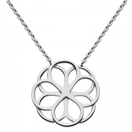 Kit Heath Florence Lace Petal Necklace in Sterling Silver