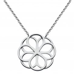 Florence Lace Petal Necklace in Sterling Silver