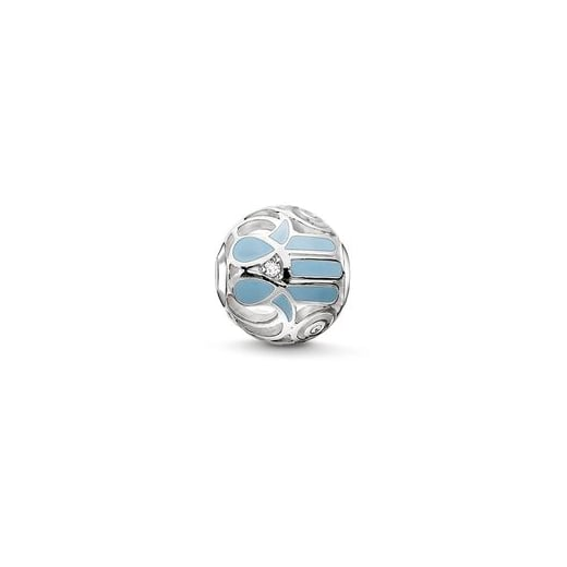 Thomas Sabo Karma Bead Light Blue Fatima's Hand Bead