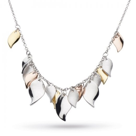 Kit Heath Enchanted Cluster Leaf Multi Gold, Rose Gold Necklace