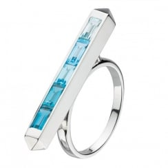 Manhattan Blue Topaz Ombre Ring