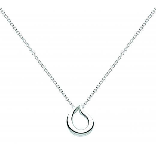 Kit Heath Petite Silver Teardrop Necklace