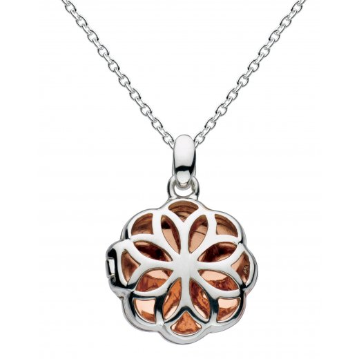 Kit Heath Rose Gold Plated Madeleine Carved Locket Necklace