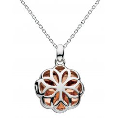 Rose Gold Plated Madeleine Carved Locket Necklace
