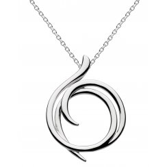 Silver Helix Wrap Necklace