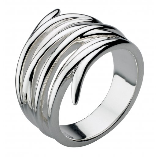 Kit Heath Silver Helix Wrap Ring