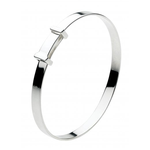 Kit Heath Simple Silver Expandable Christening Bangle