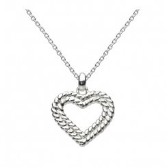 Sterling Silver Deuce Heart Necklace
