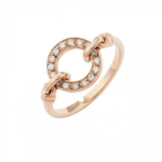 London Road Designer Rose Gold Diamond Meridian Ring