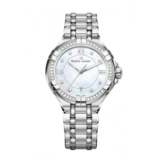 Maurice Lacroix Diamond Set Stainless Steel Ladies Aikon Watch