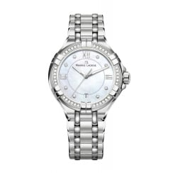 Diamond Set Stainless Steel Ladies Aikon Watch