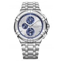Gents Aikon Silver & Blue Chronograph Dial