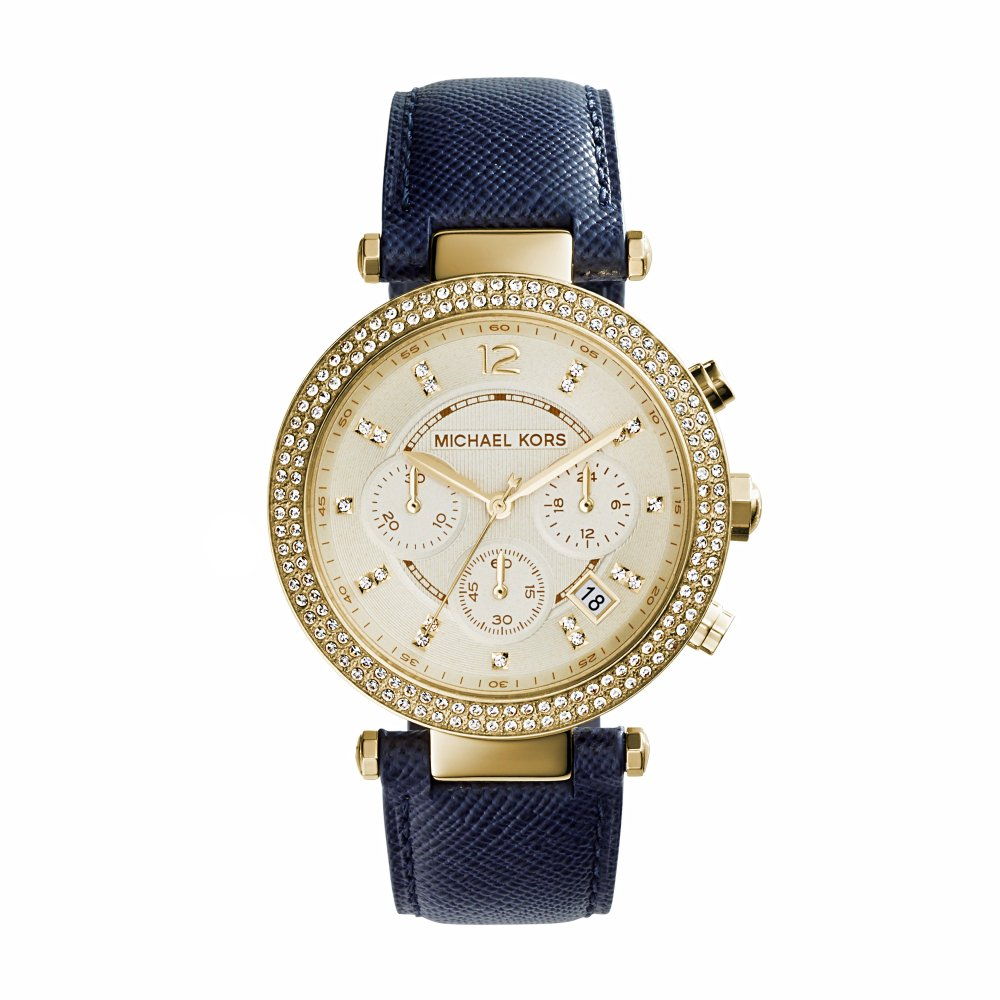 gold with navy michael kors