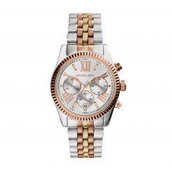 Lexington Three-Tone Gold & Stainless Steel Ladies Watch